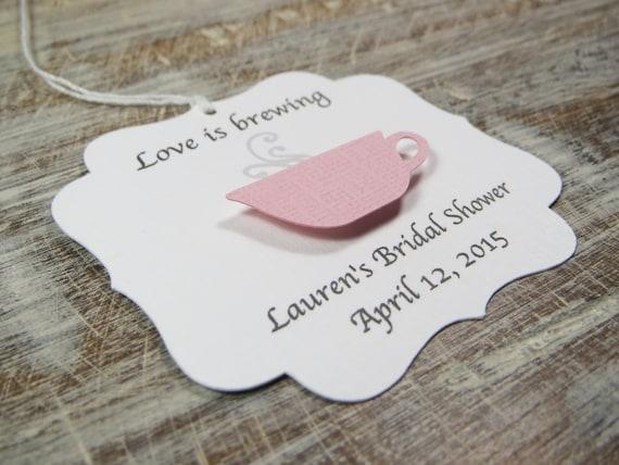LOVE is BREWING Par-Tea\u2122 Favors Bridal Shower Favors #Wedding #Bridal #Tea #Favors Wedding Favors