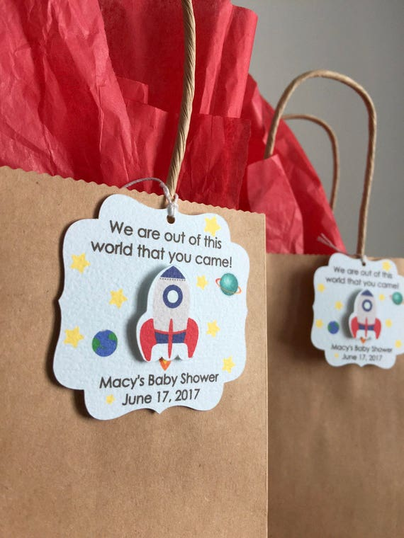Outer Space Party Favor Tags Outer Space Birthday Party Favor Etsy