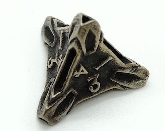 Steel D4 by Butler Dice - 4 Sided Metal