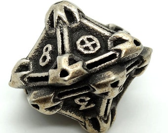 Steel D10 by Butler Dice - 10 Sided Metal