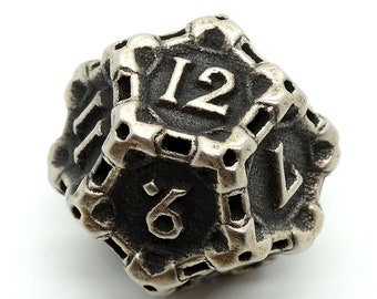 Steel D12 by Butler Dice - 12 Sided Metal