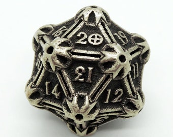 Steel Spindown Life Counter D20 Metal by Butler Dice 20 Sided