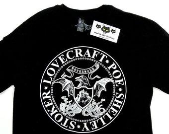 Horror Shirt Poe HP Lovecraft Mary Shelley Bram Stoker Writer Author