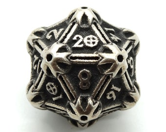 Steel D20 Dice by Butler Dice - 20 Sided Metal