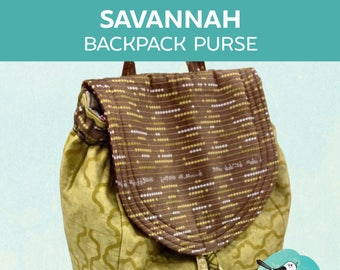 Savannah Backpack Purse ~ PDF Pattern
