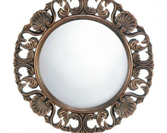 Heirloom Ornate Round Wall Mirror - Ornate Mirror - Wall Mirror - Round Mirror - Heirloom Mirror - Mirrors - Home Decor - Home Accessories