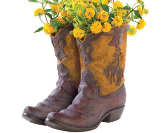 Cowboy Boots Planter - Planters - Indoor Planters - Pots - Home Decor - Plants - Plant Accessories - Cowboy Boots - Gardening