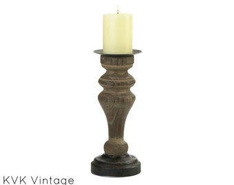 Antique Style-Wooden Candle holder - Wood Candle Holder - Candle Holders - Pillar Candle Holder - Home Decor - Column Candle Holder