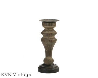 Antique-Style Wooden Candle Holder - Candle Stand - Wooden Candle Holder - Candle holder - Home Living - Home Decor