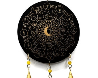 Zodiac Chime - Astrology Wind Chimes - Wind Chimes - Garden Decoration - Fair Trade