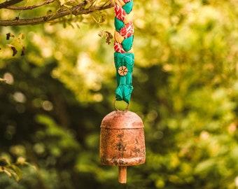 Braided Sari Ribbon Bell - Bells - Copper Bells - Fair Trade