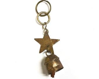 Bell Key Chain - Key chains - Accessories - Key Ring - Key Holder - Keys - Fair Trade - Metal - Bell Key Chain - Star Key Chain