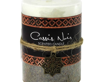Casis Noir Moroccan Pillar Candle -  Candle - Scented Candle - Pillar Candle