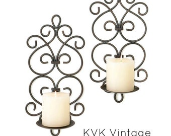 Scrollwork Wall Sconces - Wall Sconces - Candleholders - Sconces - Candles - Holders - Home Decor - Scrollwork