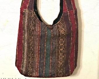 Multi-Striped Cross-body Bag - Patchwork - Handbags - Sling Bag - Crossbody Bags - Cross-body Sling Bag - Fair Trade - Fair Trade Sling Bag