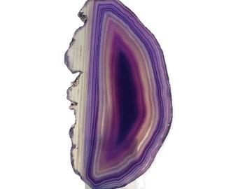 Natural Light Purple Agate Nightlight - Agate Night Light - Home Decor - Lighting - Night Lights - Gemstone Night Light - Stone - Nightlight