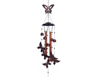"Butterflies Wind Chimes 36"" - Wind Chimes - Chimes - Garden Decoration - Outdoor Living -  Butterfly Chimes - Home Decor - Insect Chimes"