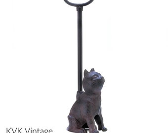 Cast Iron Cat Door Stopper With Handle - Door-Stopper - Animal Door Stopper