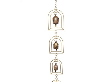 Long Temple Bell Chime - Wind Chimes - Wind Bell - Garden Decoration - Fair Trade - Home Décor