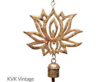 Lotus Flower Chime - Wind Chimes - Chimes - Recycled Metal - Garden Decoration - Fair Trade -  Home Decor - Lotus Flower - Metal Chimes