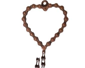 Bike Chain Heart Wall Hook - Industrial Décor - Bike Chain Art - Fair Trade - Home Decor