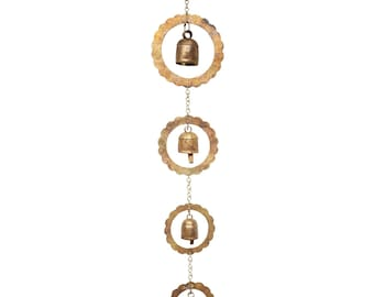 Long Surya Metal Chime - Wind Chimes - Wind Bell - Garden Decoration - Fair Trade - Home Décor