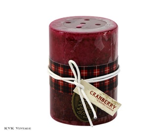 Holiday Cranberry Scented Candle 3x4 - Scented Candles - Candles - Holiday Candles - Christmas Candles - Home Decor - Holiday Decor