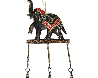 Embossed Elephant Chime - Wind Chimes - Garden Decoration - Fair Trade