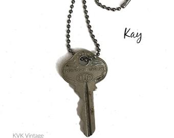 Vintage Key Necklace (KAY) - Antique Key Necklaces – House Key Necklace - Old Key Necklace