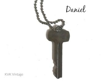 Vintage Key Necklace (DANIEL) - Antique Key Necklaces – House Key Necklace - Old Key Necklace