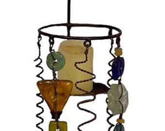 Iron and Recycled Glass Votive Sconce -  Home Décor -  Fair Trade - Candle Holders - Votive Holders