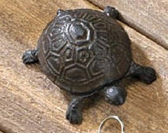 Cast Iron Turtle Key Holder - Animal Key Holder - Key Hider