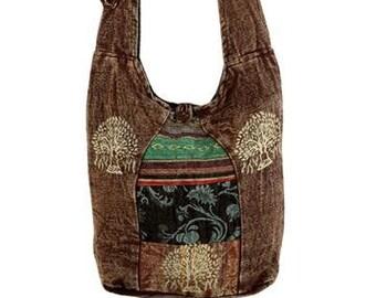 Tree of Life Crossbody Sling Bag - Crossbody Bags - Fair Trade Bags - Bohemian Handbags