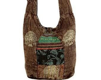Crossbody Sling Bag - TREE OF LIFE - Handbags - Sling Bag - Crossbody Bags - Cross Body Sling Bag - Fair Trade - Fair Trade Sling Bag