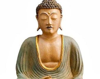 Hand Painted Meditating Buddha - Buddha - Fair Trade - Spirituality - Religion - Religious Statuary - Home Decor - Buddha Statue - Zen