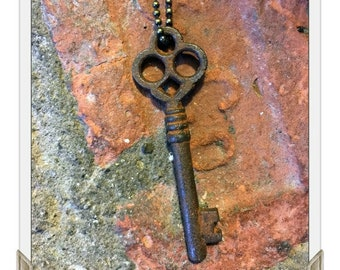 Antique Skeleton Key Necklace (FANCY) -  Key Necklaces