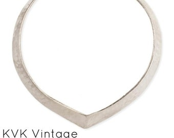 Silver Hammered Pointy Collar Necklace - Boho Jewelry - Boho Necklace - Hippie Jewelry - Collar Necklace - Hammered Collar - Choker