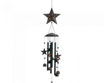 "Bronze Star Wind Chimes 34"" - Wind Chimes - Chimes - Star Chimes - Garden Decoration - Outdoor Living -  Home Decor - Star Wind Chimes"