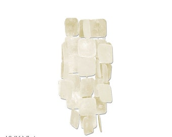 White Capiz Shell Wind Chime - Garden Decoration - Fair Trade - Shell Chimes