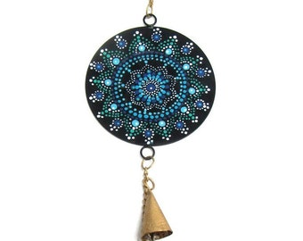 Painted Mandala Chime - Wind Chimes - Garden Decoration - Fair Trade