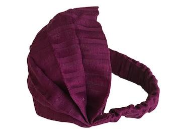 Magenta Wide Headband - Boho Headband - Bohemian Headband - Headbands for Women