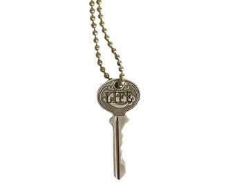 LIFE Key Necklace - Key Necklace - Boho Key Necklace – Stamped Necklace - Word Key