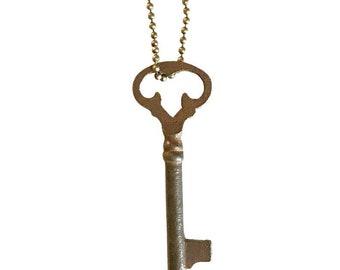Vintage Skeleton Key Necklace (MEDIEVAL) -  Key Necklace - Old Key - Boho Key Necklace