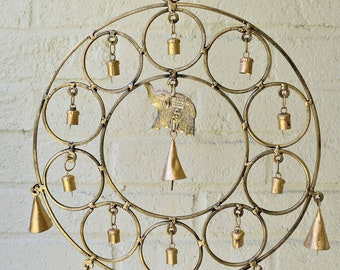 Elephant Circle Chimes - Zen Wind Chimes - Garden Decoration - Fair Trade