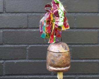 Sari Fringe Ribbon Bell - Bells - Copper Bells - Fair Trade