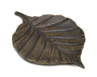 Decorative Leaf Tray - Trays - Home Decor - Decorative Trays - Leaf Trays - Metal Trays - Metal Leaf Tray - Accent Tray - Decorative Dish