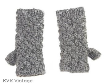 Malle Wool Knit Hand-warmers - Hand-warmers - Knit Mittens - Finger-less Gloves -  Wool Gloves - Wool Mittens - Fall Hand-warmers