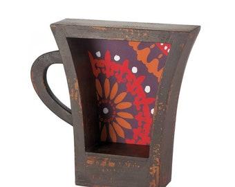 Dark Coffee Cup Shelf - Home Decor - Home Accessories - Home Living - Wall Decor