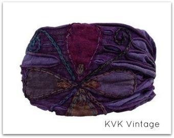 Purple Flower Headband - Headband - BOHO Headband - Hippie Headband - Wide Headband - Hair - Accessories
