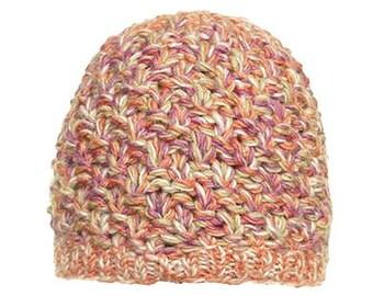Pink Mix Wool Knit Cap - Knit Hats - Wool Beanies - Fair Trade